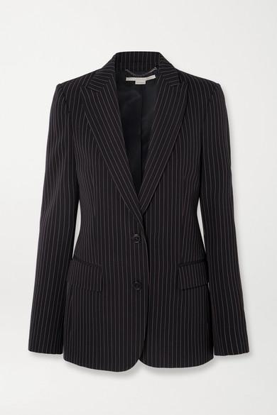 Stella Mccartney Blazers Pinstriped wool-twill blazer