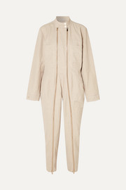Stella McCartney Zip-embellished twill jumpsuit