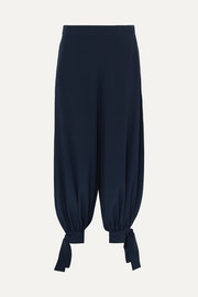 Stella McCartney Tie-detailed silk crepe de chine pants