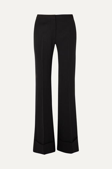 STELLA MCCARTNEY | Stella McCartney - High-rise Wool Flared Pants - Black | Goxip