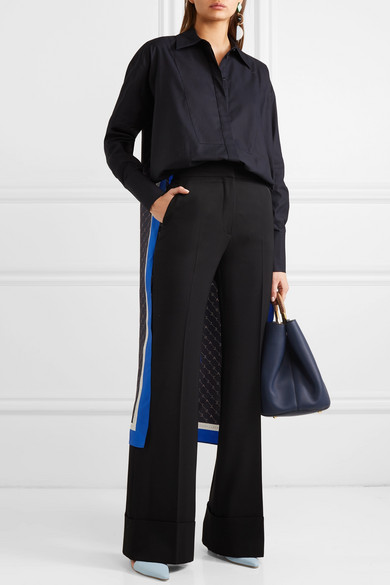 Stella Mccartney Pants High-rise wool flared pants