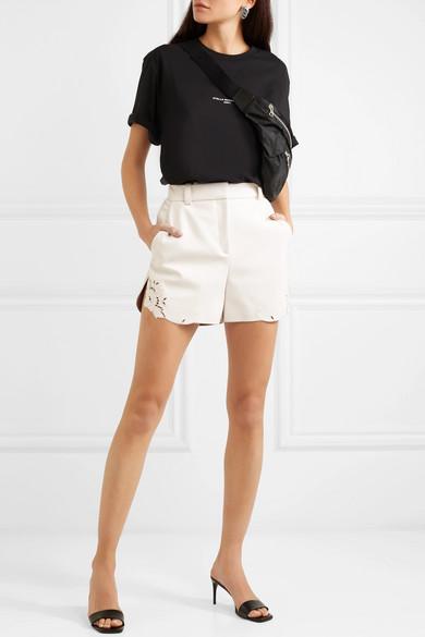 Stella Mccartney Shorts Laser-cut faux leather shorts