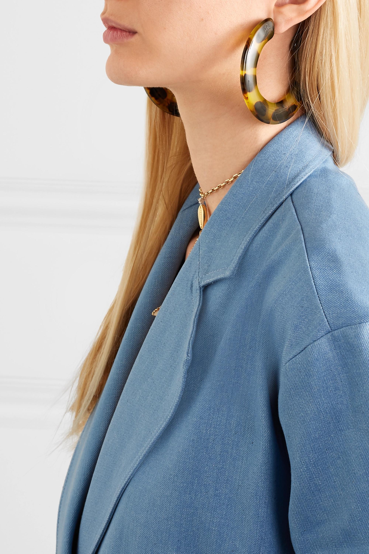 Cult Gaia Kennedy tortoiseshell acrylic hoop earrings
