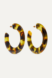 Kennedy tortoiseshell acrylic hoop earrings
