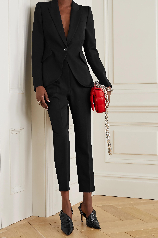 Alexander McQueen Pantalon droit en laine