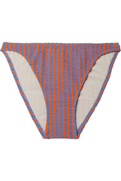 Vanessa Striped Seersucker Bikini Bottom - Lt. Purple Size Xs in Lavender