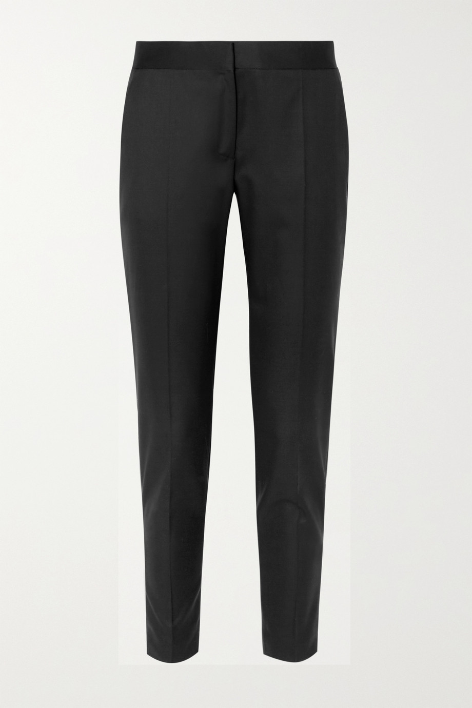 Stella McCartney Vivian zip-detailed wool-twill straight-leg pants