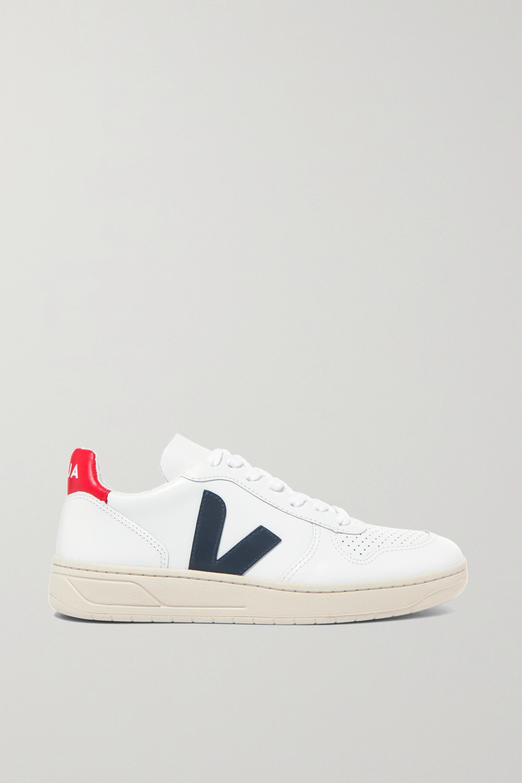Veja + NET SUSTAIN V-10 leather sneakers