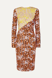 House of Holland Vivid printed stretch-jersey midi dress