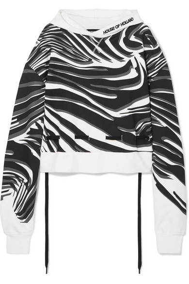 HOUSE OF HOLLAND | House of Holland - Oversized Printed Cotton-jersey Hoodie - White | Goxip