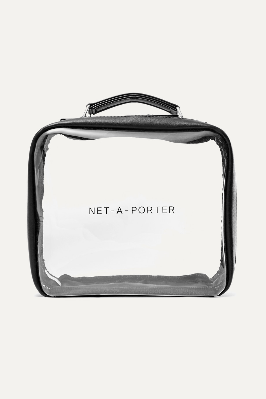 NET-A-PORTER Vegan faux leather-trimmed Perspex cosmetics case