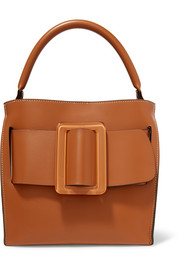 Devon 21 buckled leather tote
