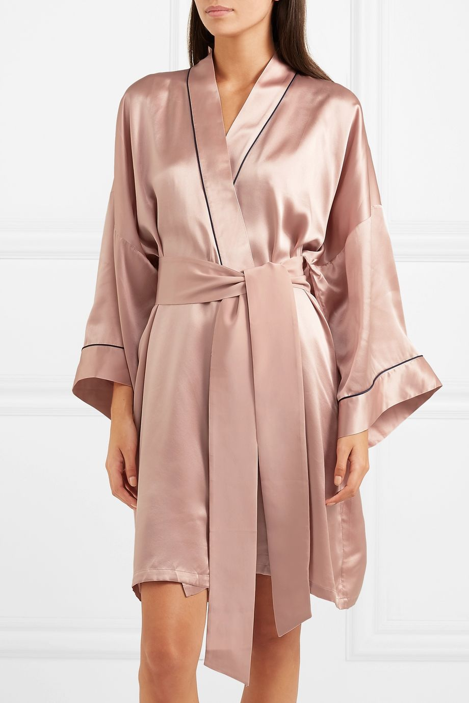 Olivia von Halle Mimi silk-satin robe