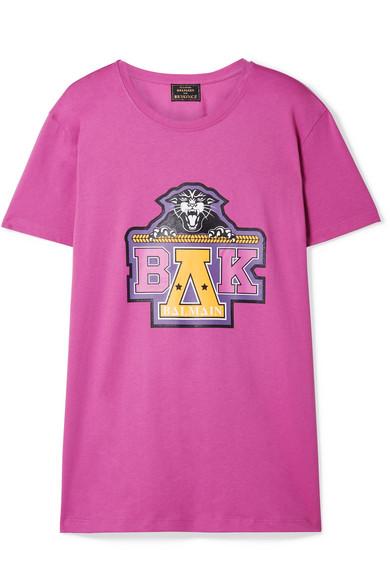 Balmain - Beyoncé Coachella Printed Cotton-jersey T-shirt - Pink