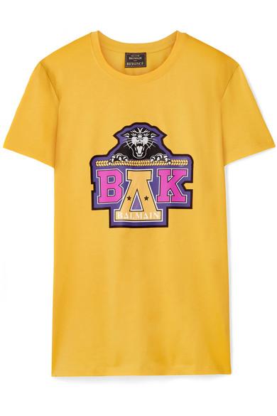 Balmain - Beyoncé Coachella Printed Cotton-jersey T-shirt - Yellow
