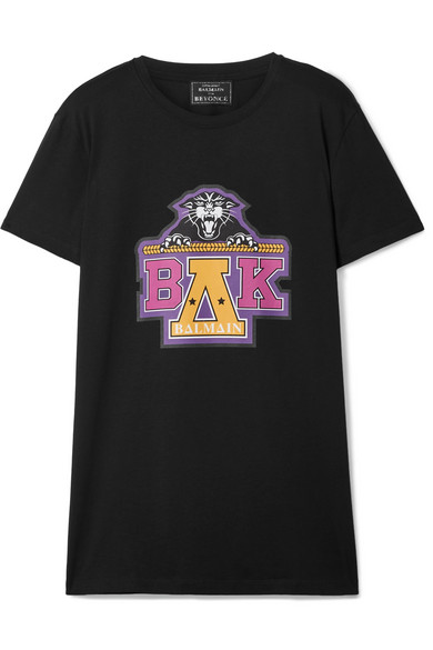Balmain - Beyoncé Coachella Printed Cotton-jersey T-shirt - Black