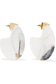 Chac Disc resin and gold-plated earrings