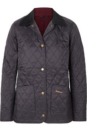Barbour Annandale corduroy-trimmed quilted shell jacket