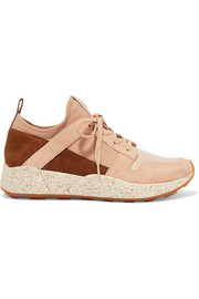 Galvin suede, leather and neoprene sneakers