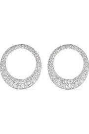 Large Galaxy 18-karat white gold diamond earrings