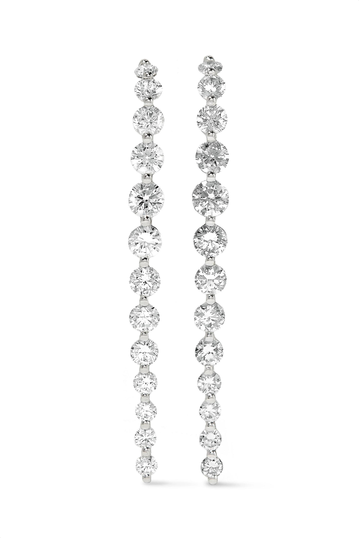 Anita Ko Long Cascade Ohrringe aus 18 Karat Weißgold mit Diamanten