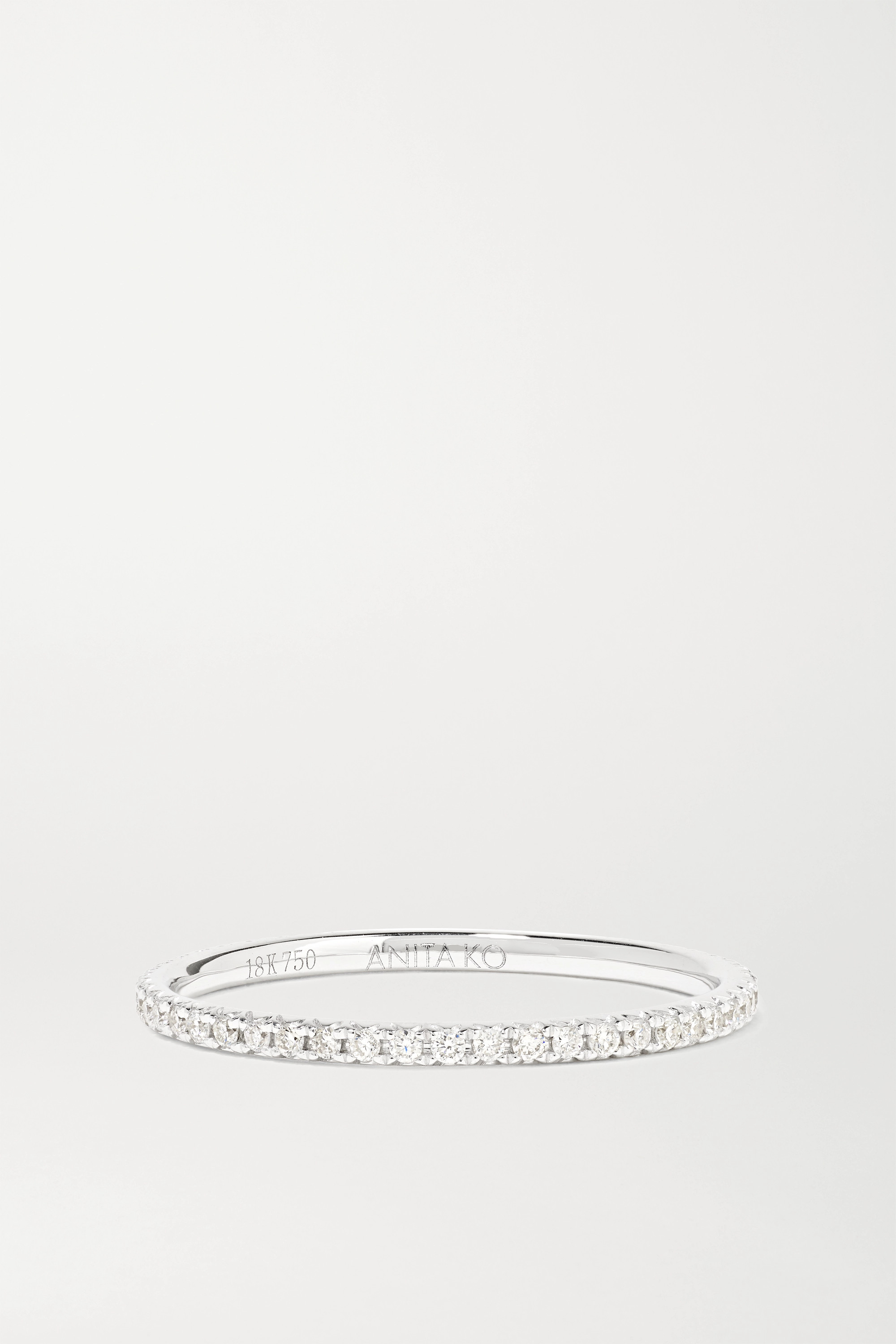 Anita Ko 18-karat white gold diamond eternity ring