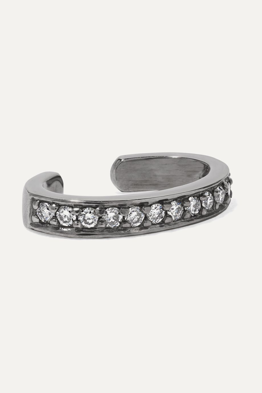 Anita Ko 18-karat blackened white gold diamond ear cuff
