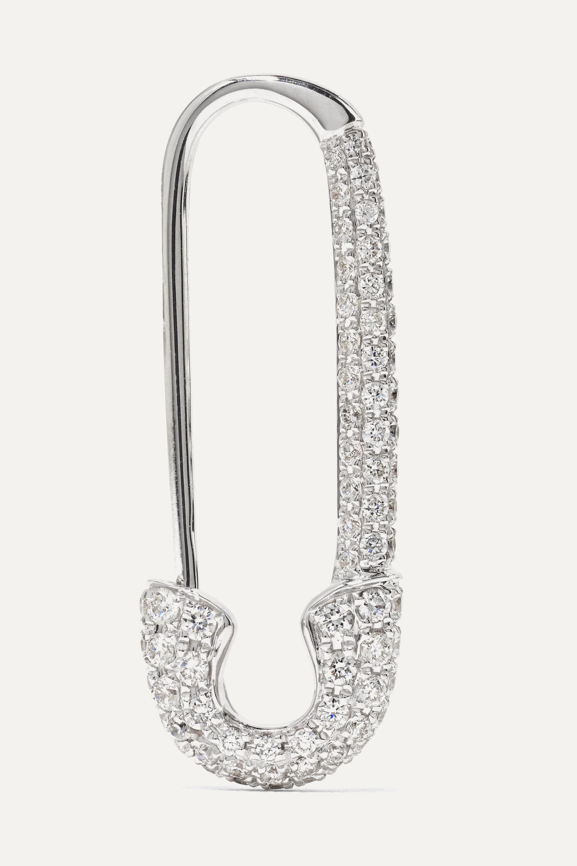 Anita Ko Safety Pin Ohrring aus 18 Karat Weißgold mit Diamanten