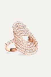 Bague en or rose 18 carats et diamants Infinity Forever