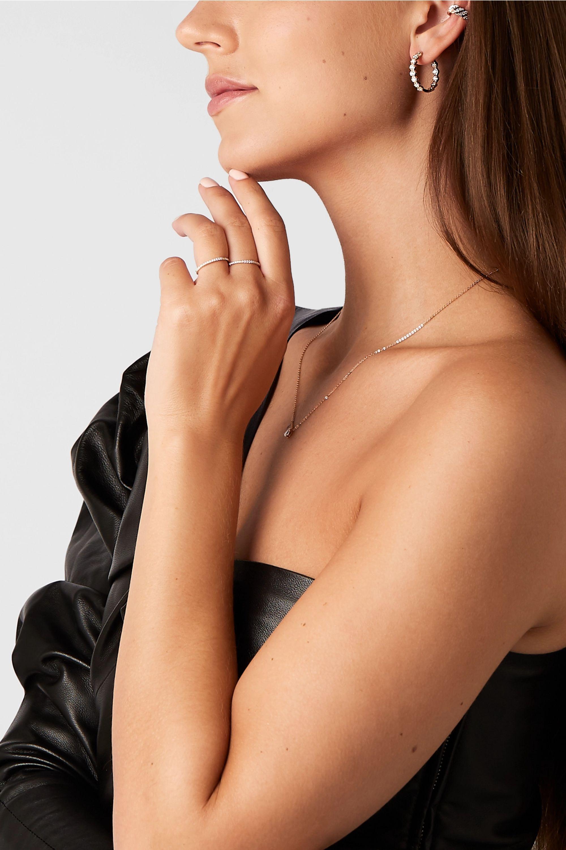 Anita Ko Honeycomb 18-karat rose gold diamond earrings