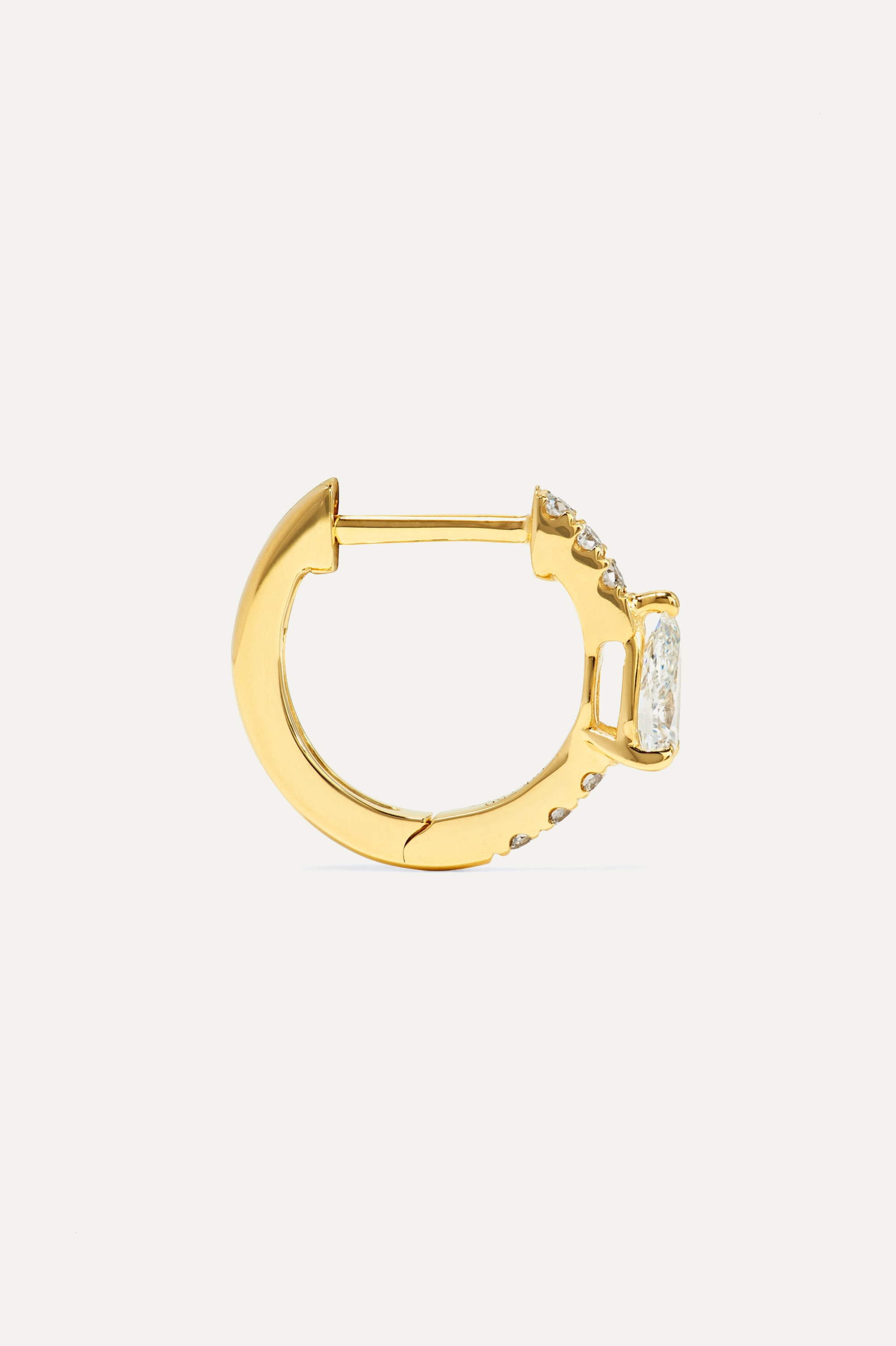 Anita Ko Huggies 18-karat gold diamond earrings