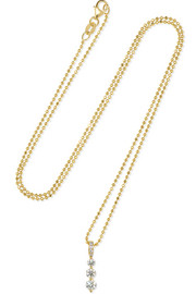 Twiggy Small 18-karat gold diamond necklace