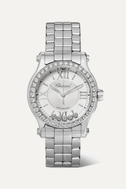 Happy Sport Automatic 30mm stainless steel and diamond watch