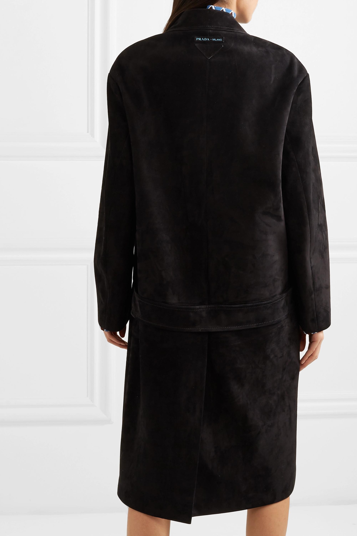 Prada Mantel aus Veloursleder