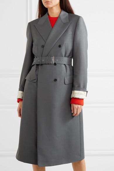 4cd8c6cc02284 Prada. Mantel aus einer Mohair-Wollmischung ...