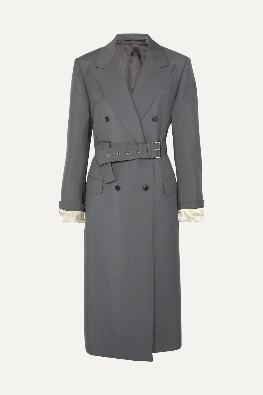 Prada Belted mohair and wool-blend coat