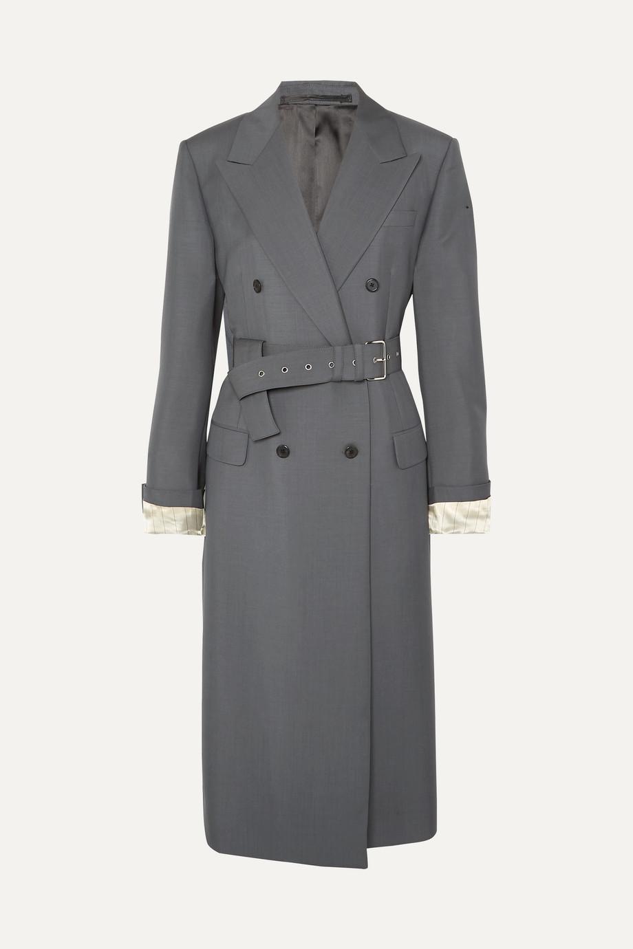 Prada Manteau en mohair et laine mélangés à ceinture