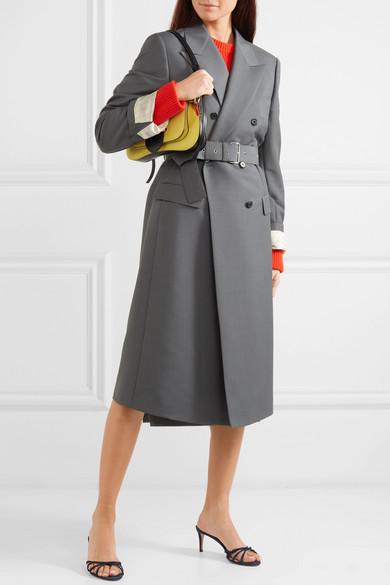 f8e288db2af72 Mantel aus einer Mohair-Wollmischung mit Gürtel