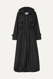 Prada Hooded shell trench coat