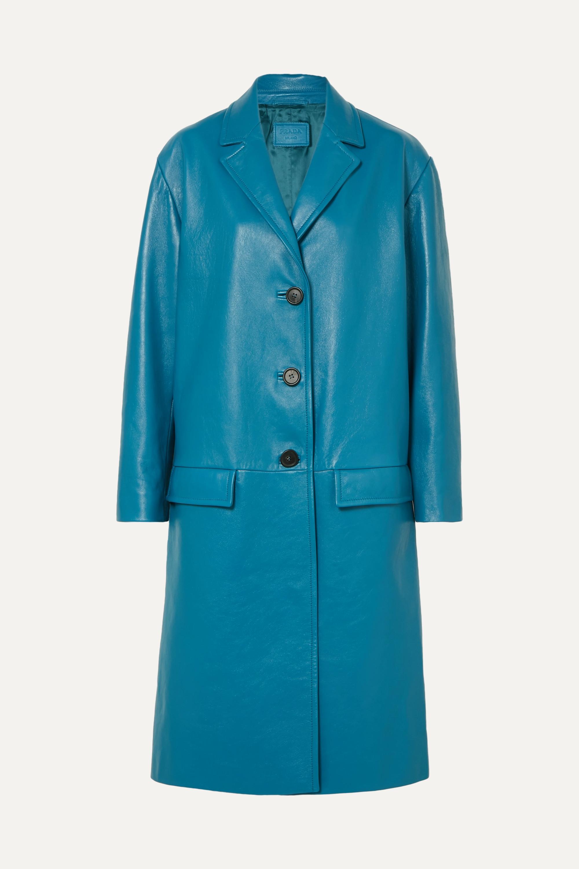 Prada Oversized textured-leather coat