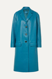 Prada Oversized textured-leather coat