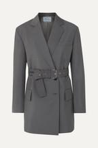 67608133bd68 Prada Belted mohair and wool-blend blazer