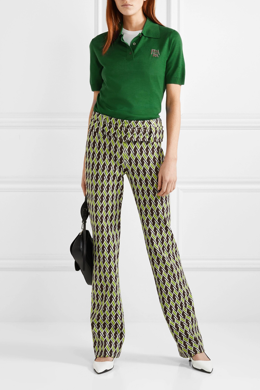 Prada Intarsia wool polo shirt