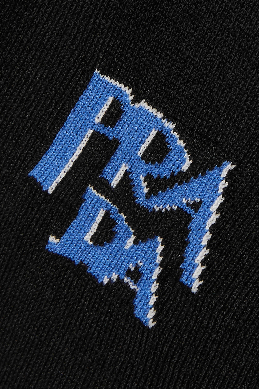 Prada Intarsia wool turtleneck sweater