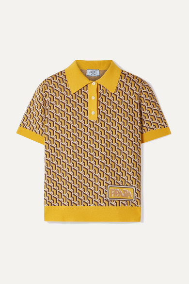 4ab2864f Prada   Intarsia silk polo shirt   NET-A-PORTER.COM