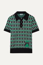11927c5e6e6dd Prada Wool-jacquard polo shirt
