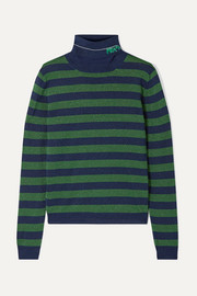 Prada Metallic wool-blend turtleneck sweater