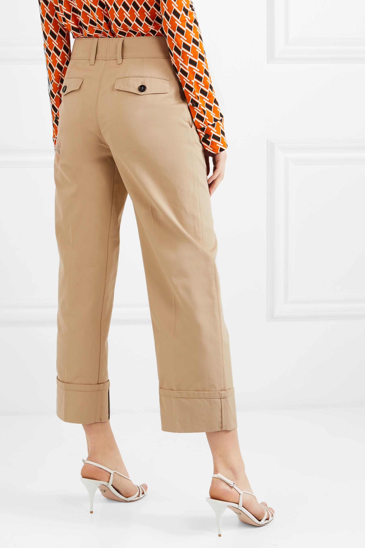 Prada Verkürzte Hose mit geradem Bein aus Baumwolle