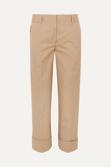 Cropped Cotton Pants