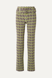 Prada Jacquard-knit straight-leg pants